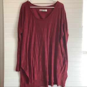Free People Beach tunic top in deep red